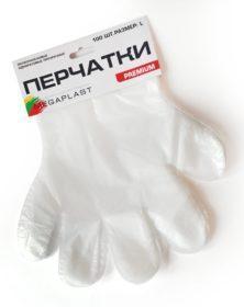 Перчатки ПНД Календарь Премиум разм L 100/10000 шт